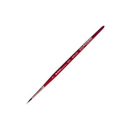Кисточка «Автор» 5072 Белка имитация круглая №04 короткая ручка красная АртАвангард