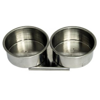 Масленка двойная металлическая с ободком Ø 4 см (11002) D. K. ART & CRAFT