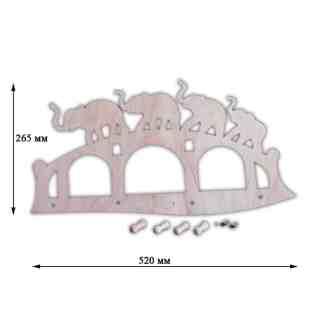 Заготовка деревянная «Вешалка» (слоны) 265х520 мм фанера 7,165 Украина