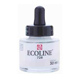 Акварельная краска жидкая Ecoline 728 Серый теплый светлый 30 мл с пипеткой