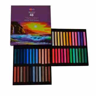 Набор сухой пастели «Premium» 48 цветов квадратная 353277 Santi