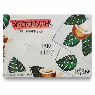 Скетчбук для маркеров (кокос) А5 (14,8х21 см) 250 г/м.кв. 25 листов «Трек»
