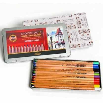 Набор пастельных карандашей Gioconda 12 цветов в металлической коробке Koh-i-Noor
