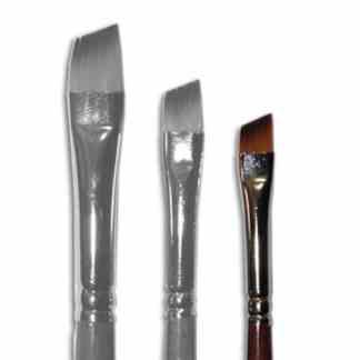 Кисточка «Живопись» 1123 Синтетика скошенная № 0 длинная ручка рыжий ворс