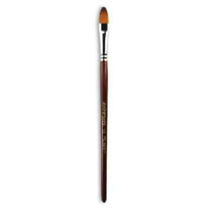 Кисточка «Живопись» 1124 Синтетика овальная № 10 короткая ручка рыжий ворс