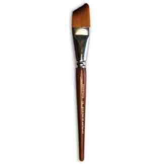 Кисточка «Живопись» 1126 Синтетика скошенная № 14 короткая ручка рыжий ворс