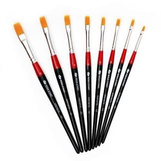 Кисточка «Rosa Start» 101 Синтетика плоская №02 короткая ручка рыжий ворс