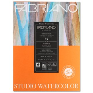 19752004 Альбом для акварели Studio 22,9х30,5 см 200 г/м.кв. 75 листов Fabriano Италия