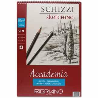 44122942 Альбом для графики на спирали Accademia А3 (29,7х42 см) 120 г/м.кв. 50 листов Fabriano Италия
