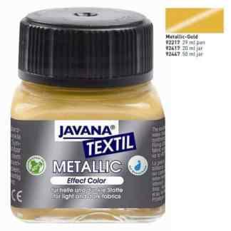Краска по темным тканям и коже нерастекающаяся KR-92417 Золото 20 мл Metallic Javana C.KREUL
