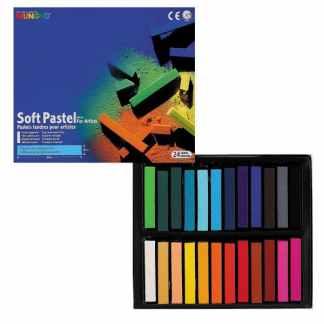 Набор сухой мягкой пастели 24 цвета квадратная MP-24 Mungyo