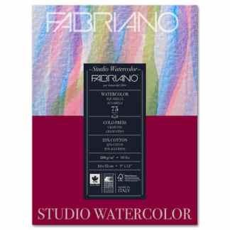17522432 Альбом для акварели Watercolour 24х32 см 200 г/м.кв. 75 листов склейка Fabriano Италия