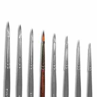 Кисточка «Живопись» 1121 Синтетика круглая № 02 короткая ручка рыжий ворс