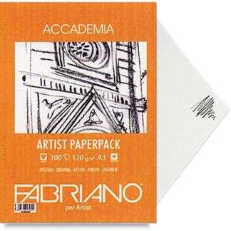 50814120 Бумага для графики Accademia А4 (21х29,7 см) 120 г/м.кв. 200 листов в упаковке Fabriano Италия