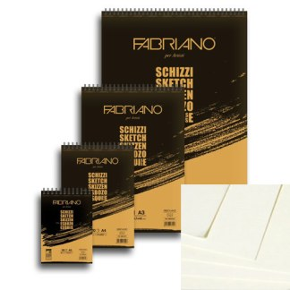 56621297 Блокнот для эскизов Schizzi А4 (21х29,7 см) 90 г/м.кв. 120 листов на спирали Fabriano Италия