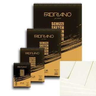 56642594 Блокнот для эскизов Schizzi А2 (42х59,4 см) 90 г/м.кв. 60 листов на спирали Fabriano Италия