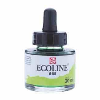 Акварельная краска жидкая Ecoline 665 Зеленый весенний 30 мл с пипеткой