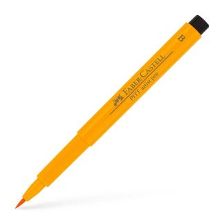 Фломастер Pitt 109 темно-желтый хром Faber-Castell