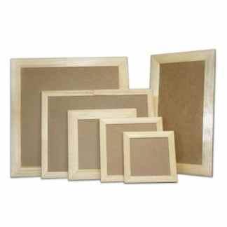 Деревянная рамка для декора с ДВП 20х40 см (планка 25х16)