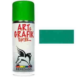 Краска акриловая в аэрозоле 05 Зеленая 200мл Renesans