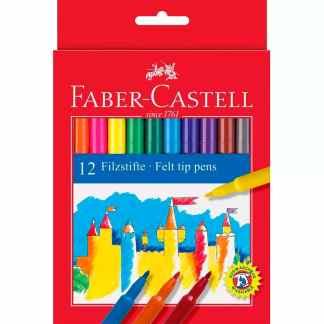 Набор фломастеров Felt Tip 12 цветов в картонной коробке Faber-Castell 554212