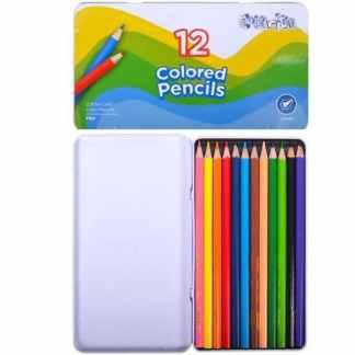 1100-12TN Карандаши цветные 12 цветов шестигранные в метал. кор. Colorite Marco