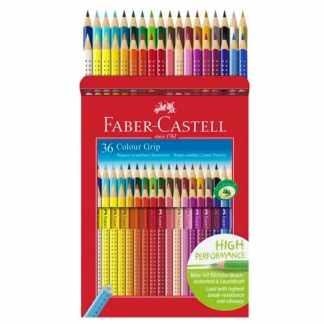 Набор акварельных карандашей Grip-2001 36 цветов трехгранные в металлическом пенале Faber-Castell
