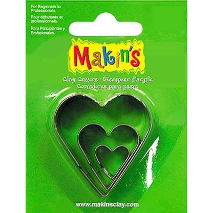 Набор каттеров «Сердце» 3 штуки Makin's
