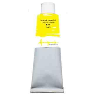 Масляная краска 043 Желтый средний светостойкий 100 мл Академия