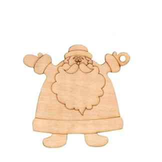 Заготовка деревянная «Дед мороз» - 5, 10х10 см, фанера,  Rosa Talent