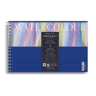 17661321 Альбом для акварели Watercolour 13,5х21 см 300 г/м.кв. 12 листов на спирали Fabriano Италия