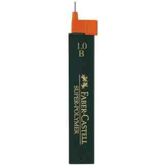 Грифель 0,9 мм B Super-Polymer 12 штук в пенале Faber-Castell 120901