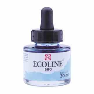 Акварельная краска жидкая Ecoline 580 Голубой пастельный 30 мл с пипеткой