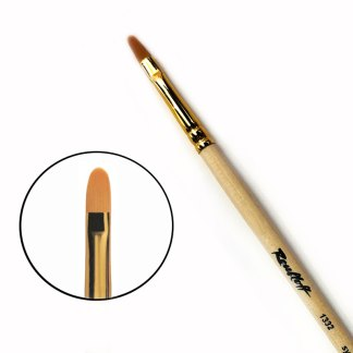 Кисточка «Roubloff» 1332 Синтетика овальная №06 длинная ручка рыжий ворс