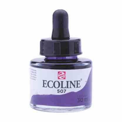 Акварельная краска жидкая Ecoline 507 Ультрамарин фиолетовый 30 мл с пипеткой
