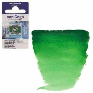 Акварельная краска Van Gogh 644 Хукера зеленая светлая 2,5 мл кювета Royal Talens