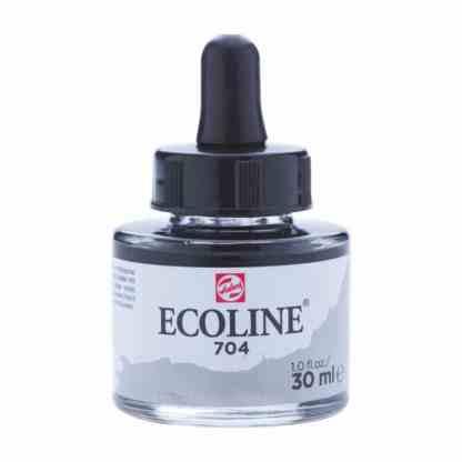 Акварельная краска жидкая Ecoline 704 Серый 30 мл с пипеткой