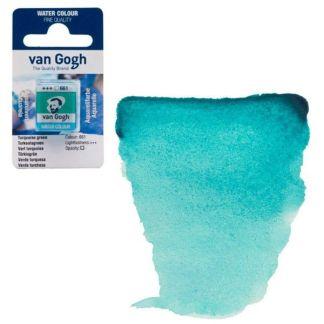 Акварельная краска Van Gogh 661 Бирюзовый зеленый 2,5 мл кювета Royal Talens