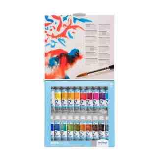 Набор акварельных красок Van Gogh 20 цветов туба 10 мл (с кистью) пластиковая коробка Royal Talens