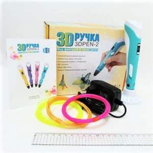 Ручка 3Д +3 цвета пластика по 3м