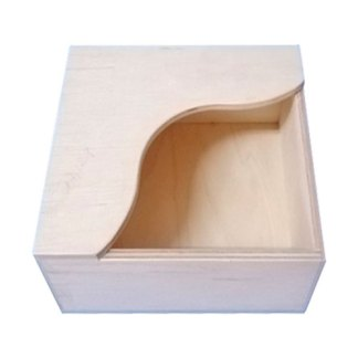 Заготовка деревянная «Салфетница» 137х137х72 мм фанера 17.121 Украина