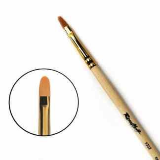 Кисточка «Roubloff» 1332 Синтетика овальная №12 длинная ручка рыжий ворс
