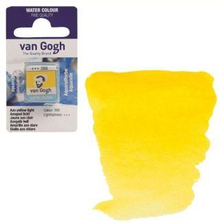 Акварельная краска Van Gogh 268 AZO Желтый светлый 2,5 мл кювета Royal Talens