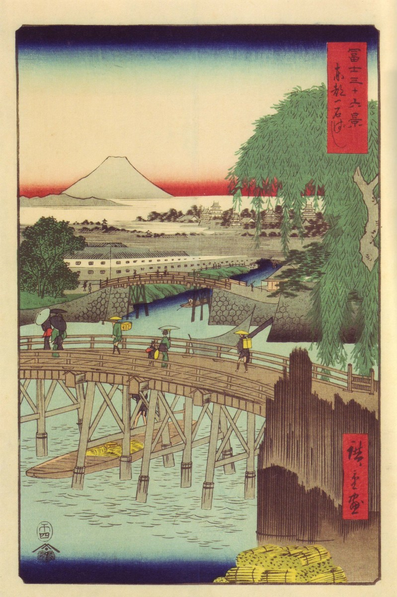歌川広重の『冨士三十六景』 全36枚