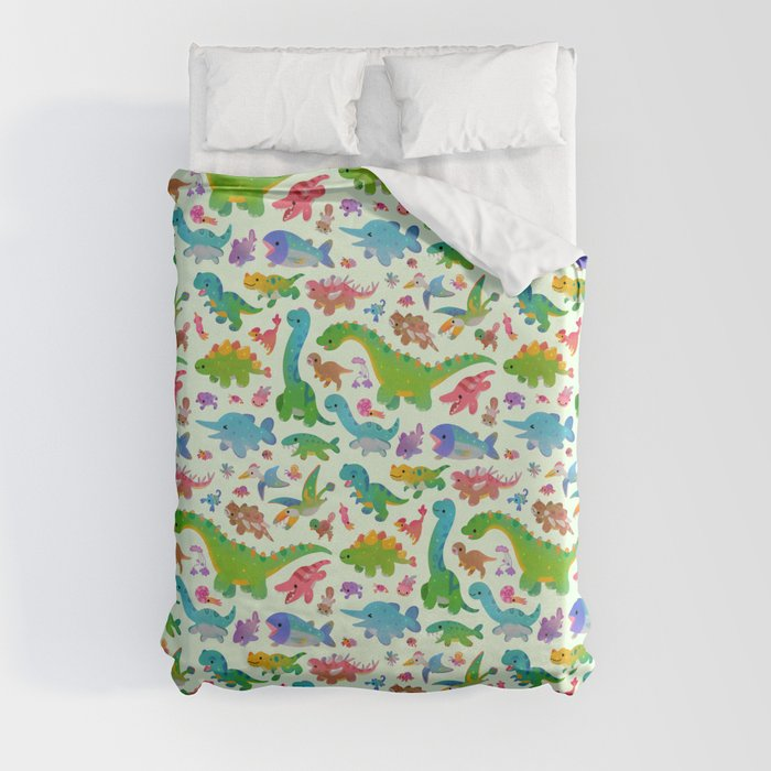 25 dinosaur duvet covers you should see | Jurassic baby duvet cover by Danbee Kim | Source: Society6
