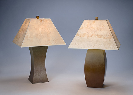 Innie & Outie Bronze Lamps - A. Held