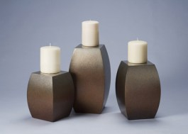 Innie & Outie Bronze Candle Stands - A. Held