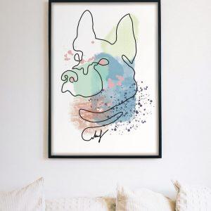 Abstract Dog Portrait Printable Digital Download