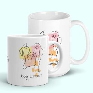 Abstract Dog Portrait Mug