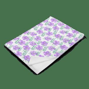 Watercolor Violet Spring Floral Pattern Throw Blanket